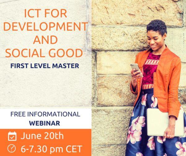 Webinar informativo per il Master ICT for Development and Social Good