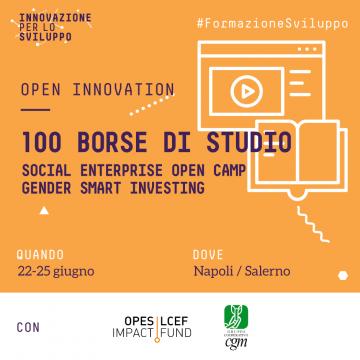 Borse di studio: Social Enterprise Open Camp – Gender Smart Investing