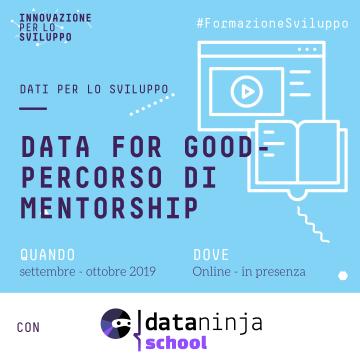 Data for Good – Percorso di Mentorship