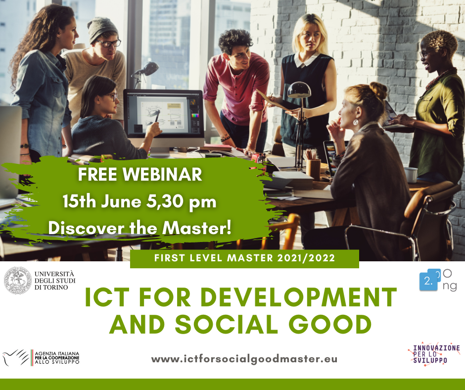 Master ICT for Development and Social Good 2021/2022